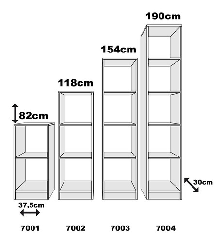 estantería de 4 cubos