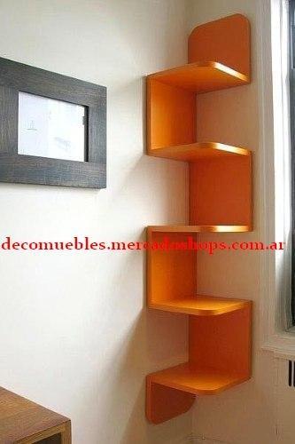 estanteria decoracion repisa, madera maciza - minimalista