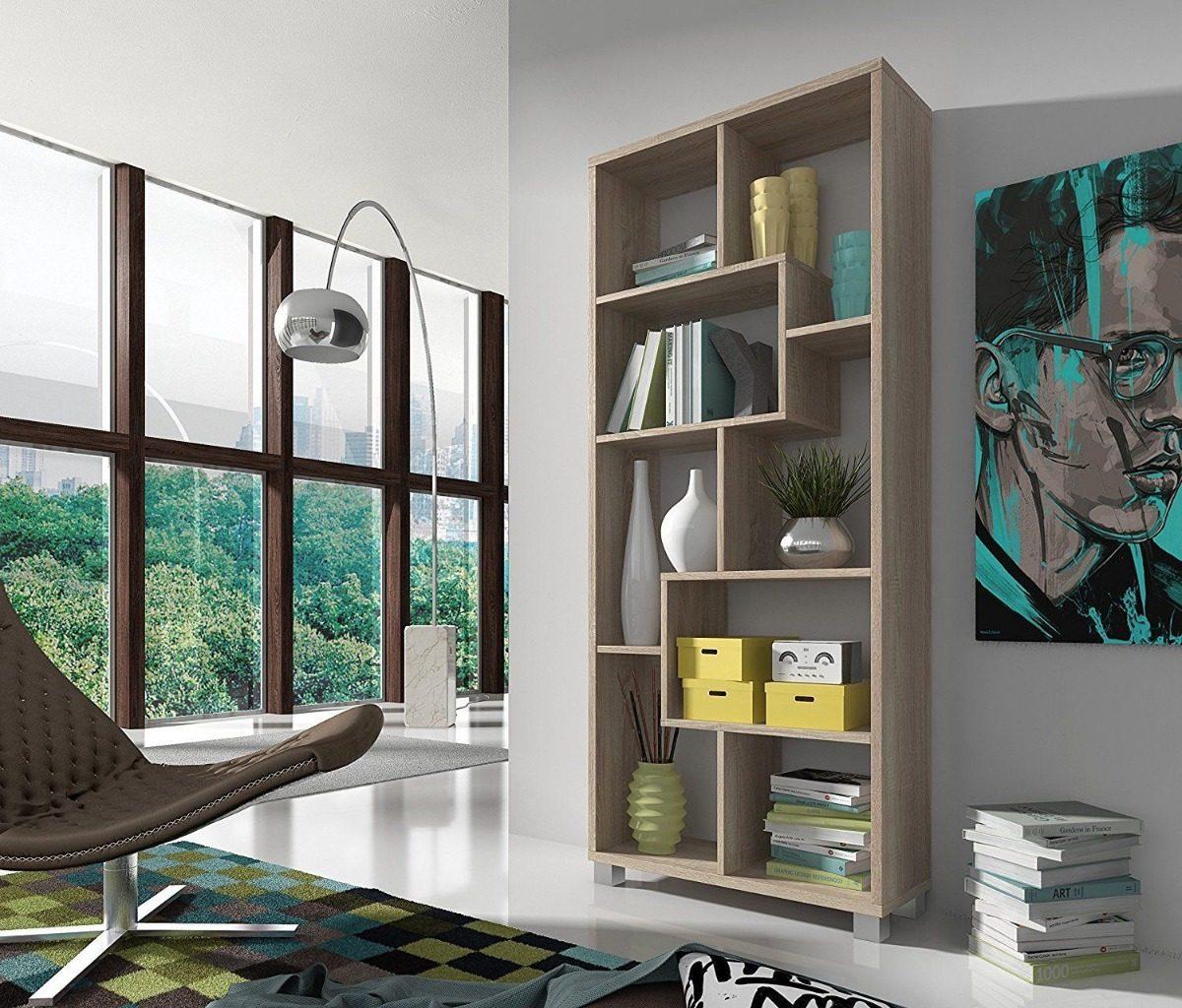 Estantería Librería Con Diseño Comedor Melamina Funcional