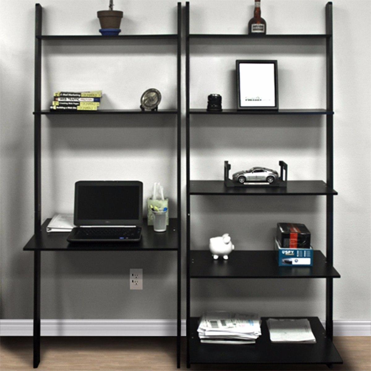 Estanter 237 A Madera Mdf Computadora Escritorio Librero Negro