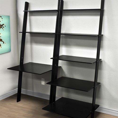 estantería madera mdf computadora escritorio librero negro