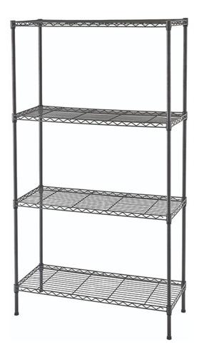 estantería metal gris oscuro liviana 4 niveles 75x35x120cm