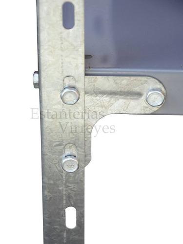 estanteria metalica 200x90x42 c/refuerzo 40kg c/estante