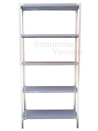 estanteria metalica 200x90x42 c/refuerzo 50kg c/estante