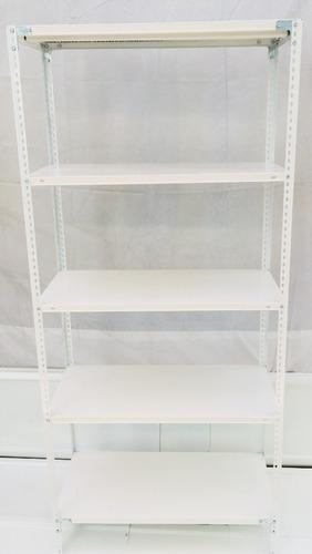 estantería metálica 30 x 90 x 2 m para 50 kg reforzadas