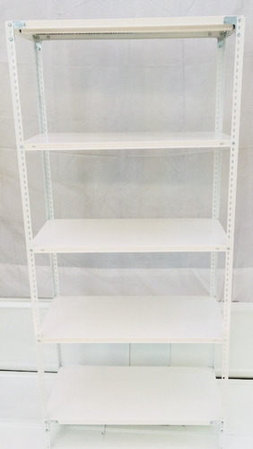 estantería metálica 30x75x200m 5 estantes c/u 40k reforzados
