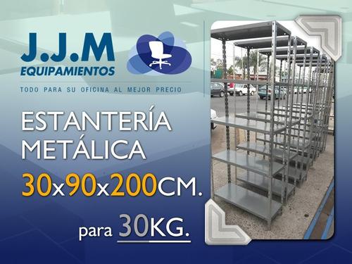 estanteria metalica 30x90x200 cm reforzada!