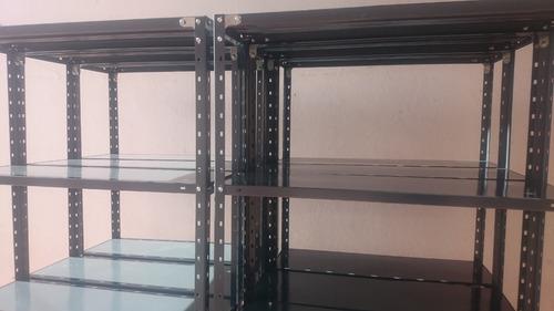estanteria metalica 30x90x2mt con 5 estantes para 65kg x est