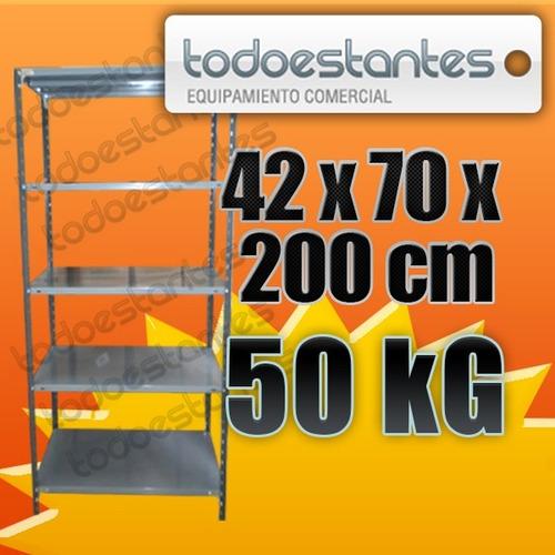 estanteria metalica 42x70x2mts para 50kg!!!!! todo-estantes