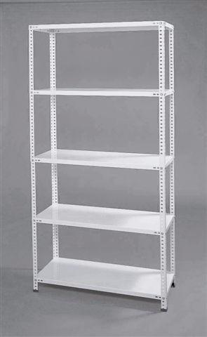 estanteria metalica 60x90x2mt con 5 estantes para 90kg x est