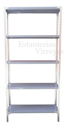 estanteria metalica 90x30x200 c/refuerzo 30kg c/estante