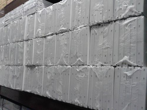 estantería metálica blanca 42x90x200m c/5 est p/50 kg