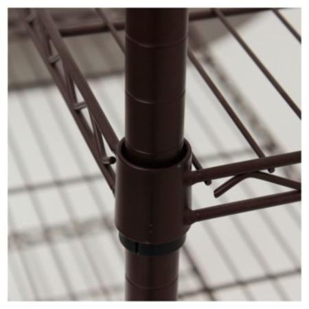 estanteria metalica bronce oscuro 4 estantes