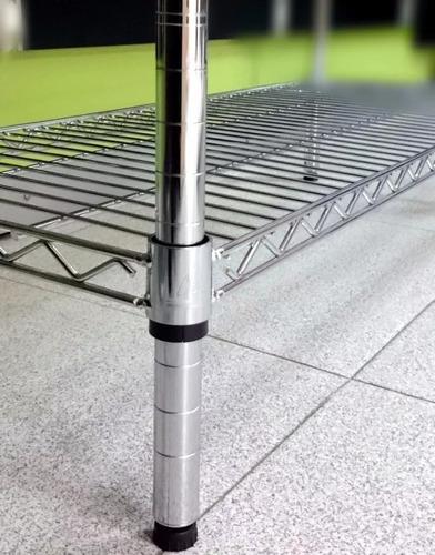 estanteria metalica cromada 4 estantes 150x60x45 cm  znorte