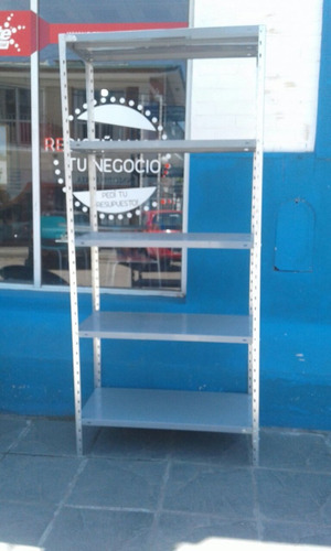 estantería metálica de 30x90x200cm con 5 estantes liviana