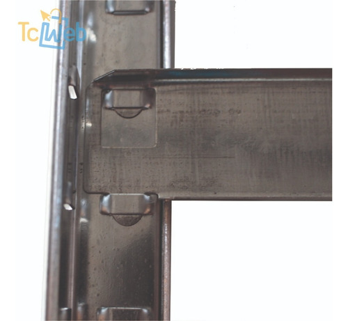 estanteria metalica encastrable 5 estantes 80x30x200 cm