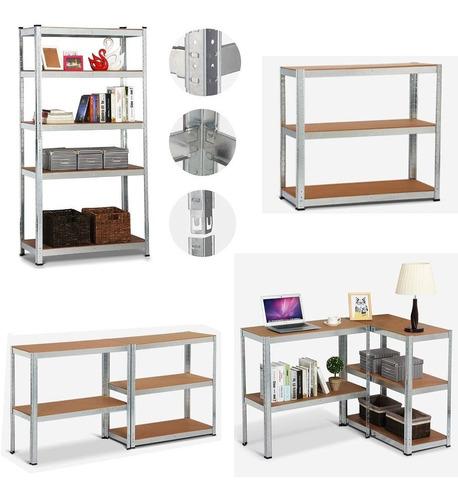 estantería metálica,galvanizada y encastrable con 5 estantes