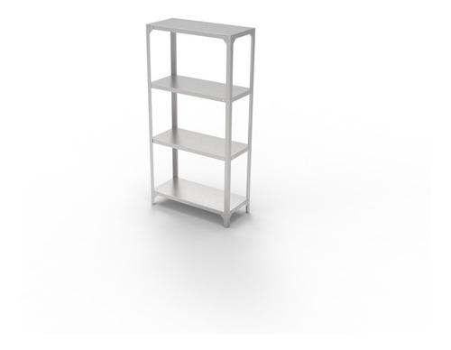 estanteria modular 4 niveles acero inoxidable 90 cm brafh