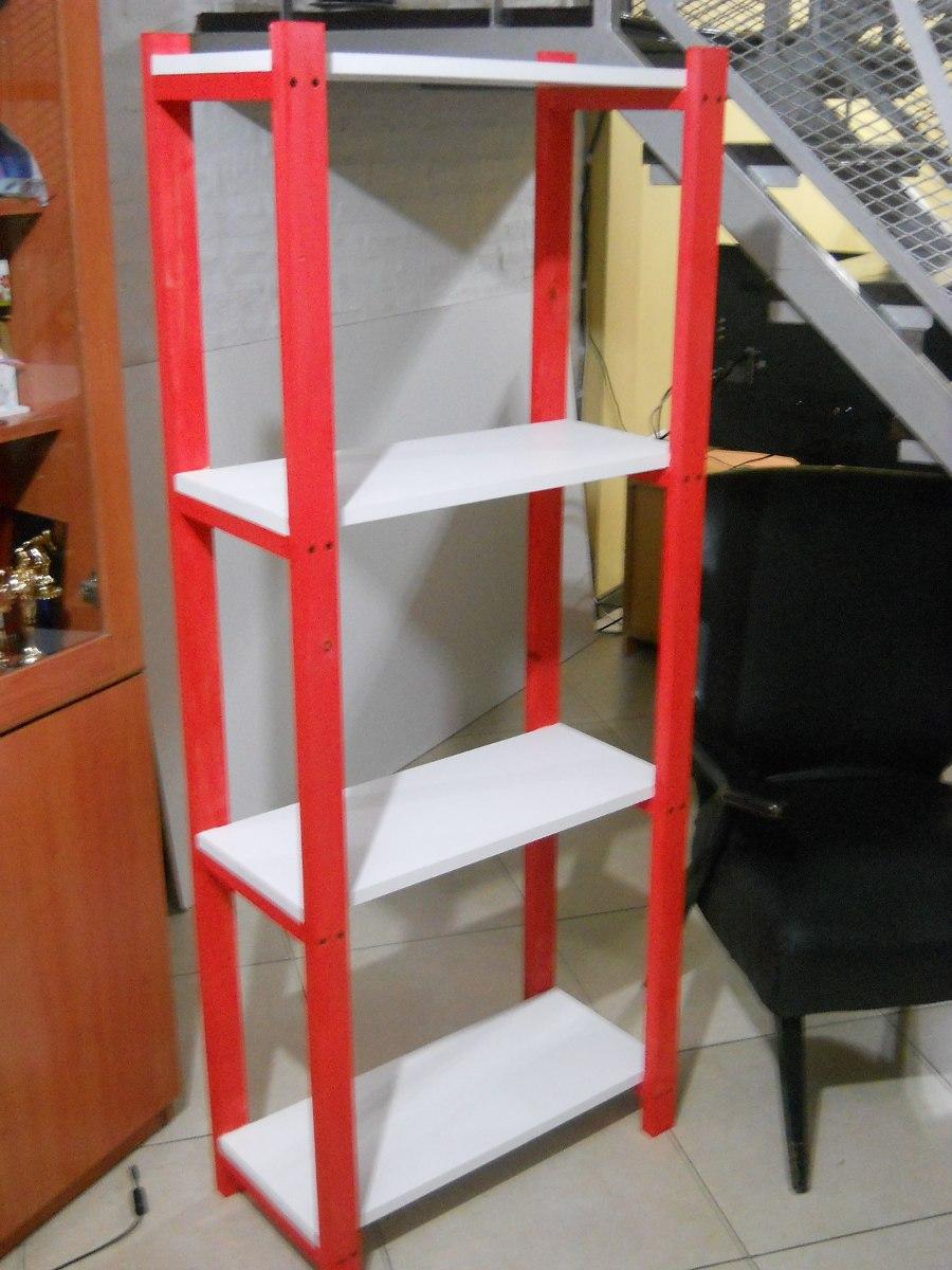 Estanteria Modulo Biblioteca Rack Madera 4 Estantes 850