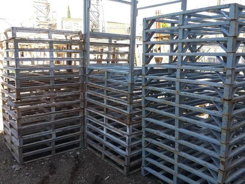 estanteria rack apilable de hierro fuerte palets mercadopago