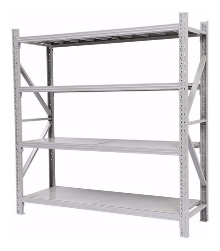 estanteria rack repisas industrial metal estante 2x0.6x2mt