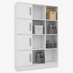 estanteria repisa con puertas castaño o blanco mobelstore