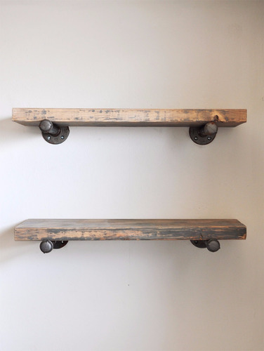 estanteria / repisa industrial mensula sencilla hierro mader