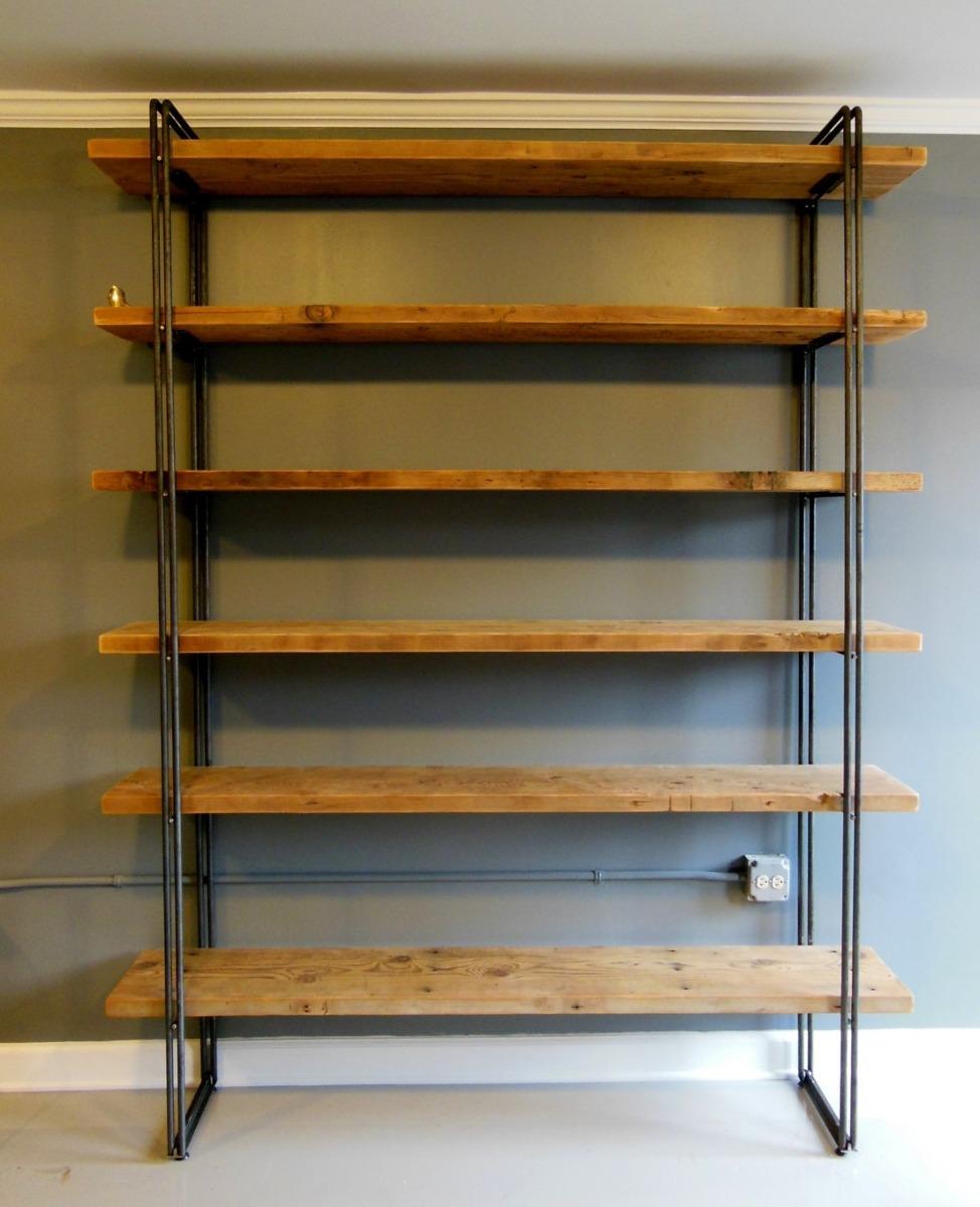 Estanteria Rustica Estilo Industrial 882000 En Mercado Libre - Estanterias-rusticas-de-madera