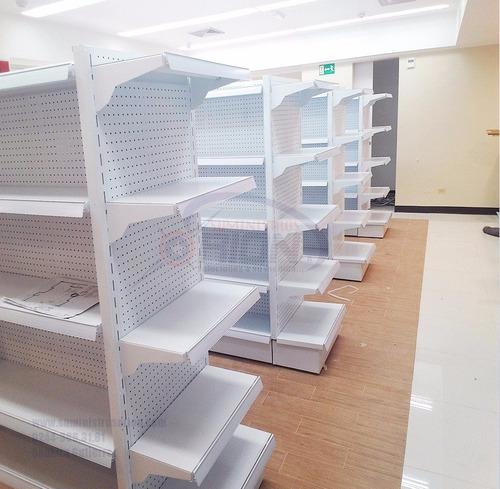 estantería supermercado farmacia góndolas pirámides ameriana