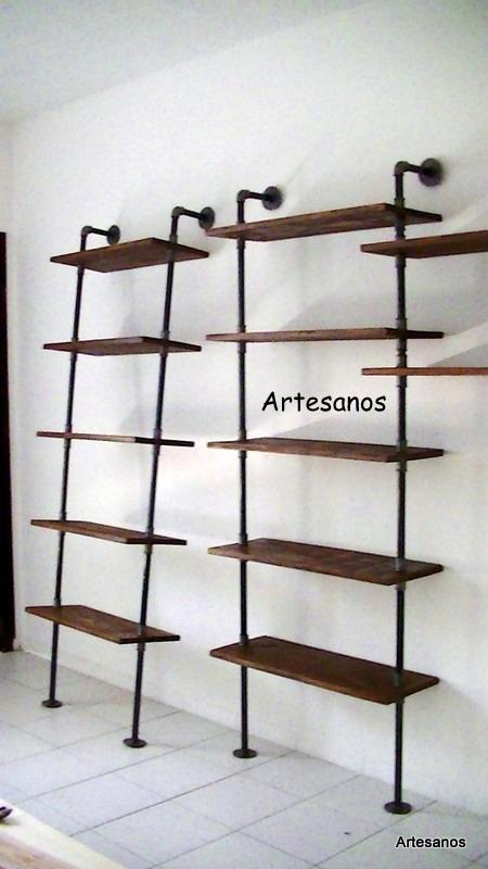Estanter as ca os de agua hierro galvanizados maderas - Estanterias de hierro ...