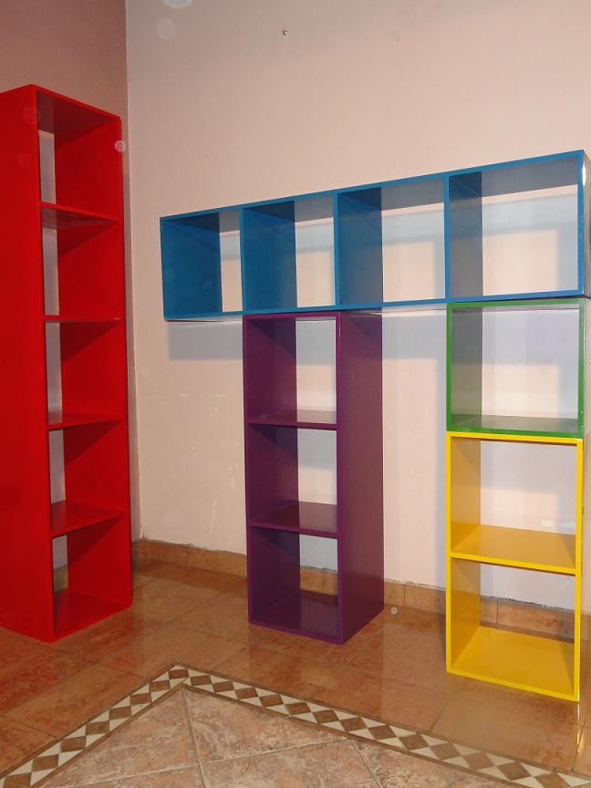 Pin repisas y cubos flotantes maracay hogar jardin muebles - Estanteria biblioteca infantil ...