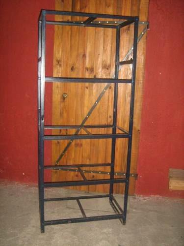 Estanterias en hierro 4 estantes con madera - Ofertas estanterias metalicas ...