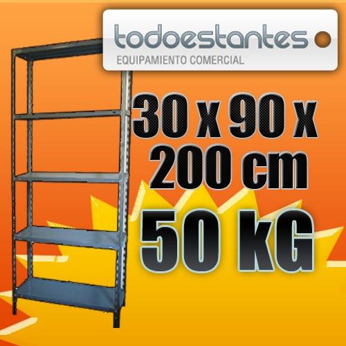 estanterias metalicas 30 x 90 para 50kg con refuerzo!!!