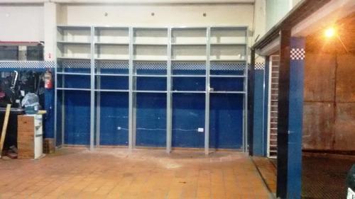 estanterías metálicas 3m de alto con 6 estantes de 30x90 ref