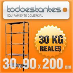 estanterías metálicas de 90x30x2m para 30 kilos reforzadas!