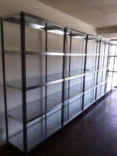 estanterias metalicas  mecano, angulo ranurado 93x45 cm