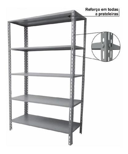 estantes de aço c/5 band 2,50 x 0,92 x 0,60 c/ 2 reforços