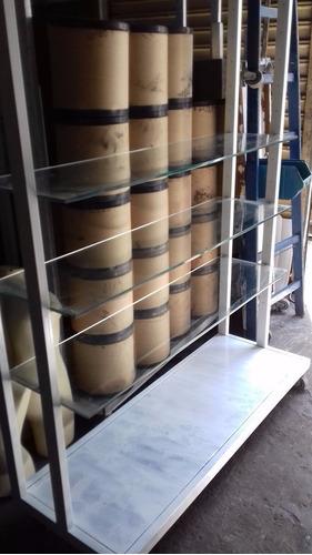 estantes de aço com rodinhas, prateleiras de vidro temperado