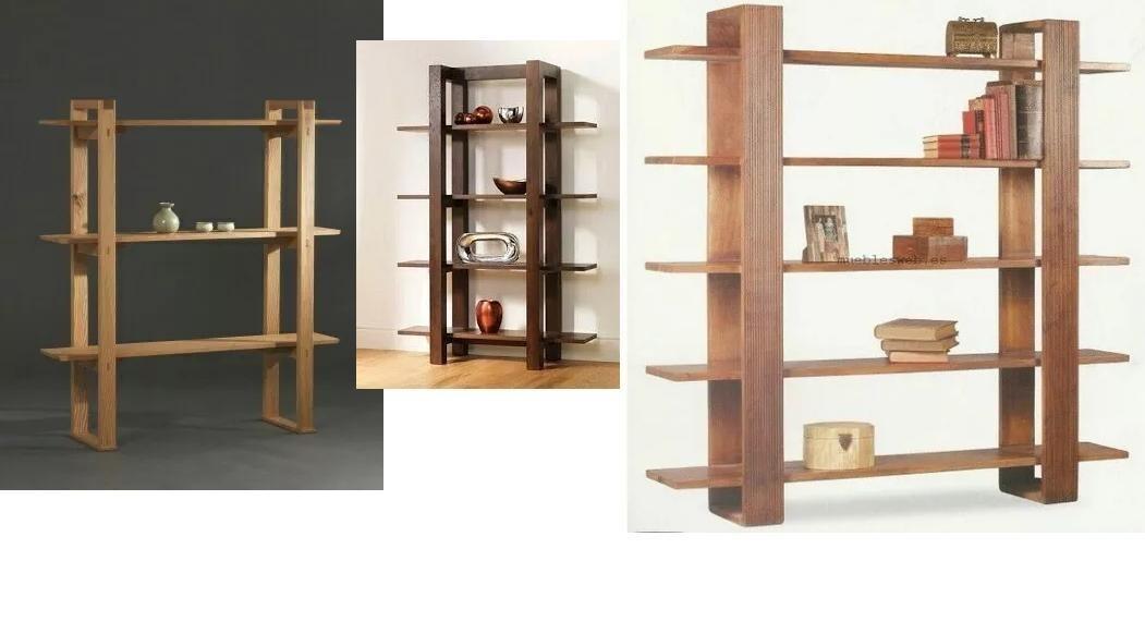 Estantes de madera modernos para sala cocina y oficina - Madera para estantes ...