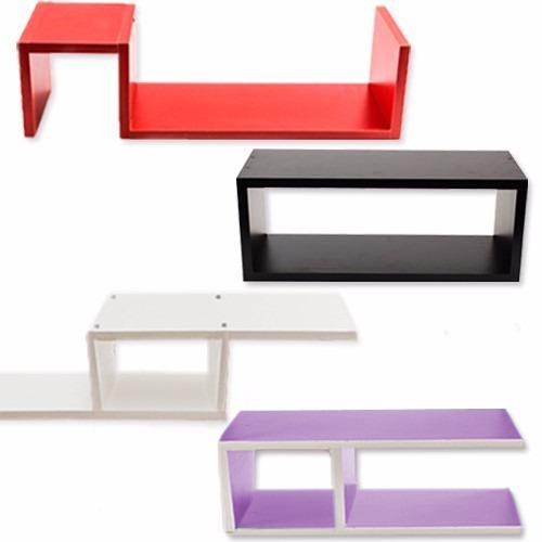 estantes flotantes colores formas ¡ s, a, rectángulo,omega !