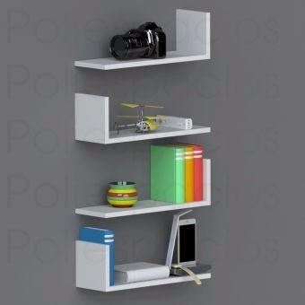 estantes flotantes forma l 35ancho x 25prof x 10alto x 25mm