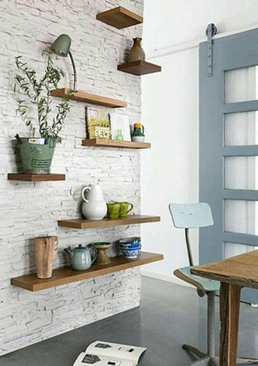 estantes flotantes madera r stica 350 00 en mercado libre