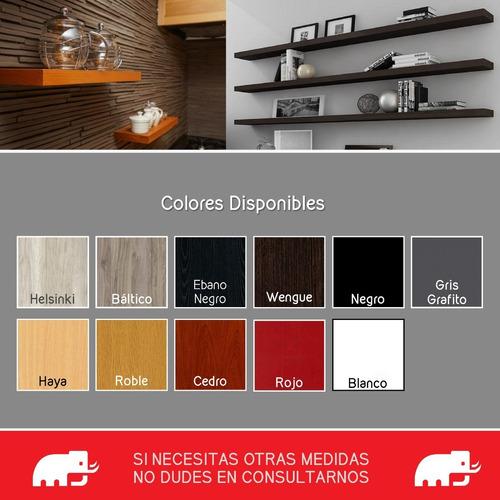 estantes flotantes repisa ménsula invisible melamina60x20x18