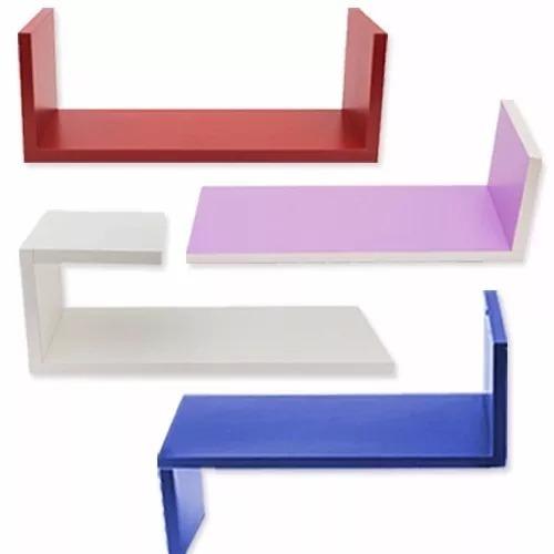 estantes flotantes repisas colores formas en ¡u , j , z y l!