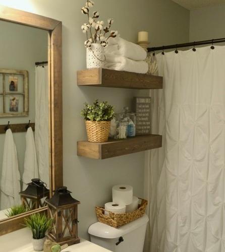 estantes flotantes repisas madera rustico vintage