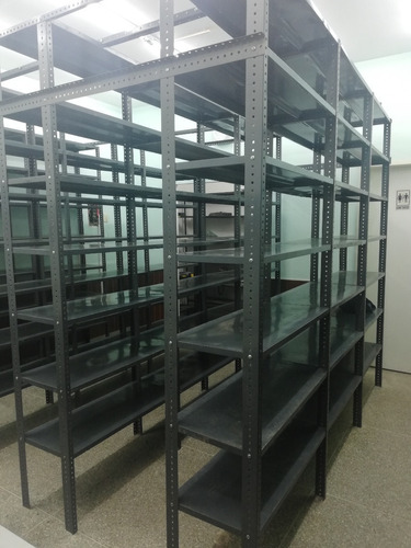 estantes metalicos 6 paños extrareforza angulo 2x1 240x92x40
