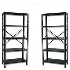 estantes metálicos esqueléticos de color gris 4 paños nuevos