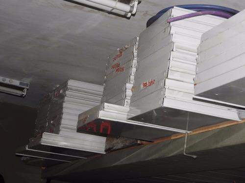 estantes metálicos para gondola 35cm x 117cm sin mensulas