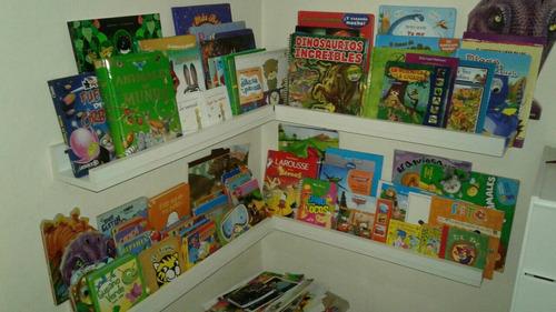estantes para apoyar libros, cuadros.