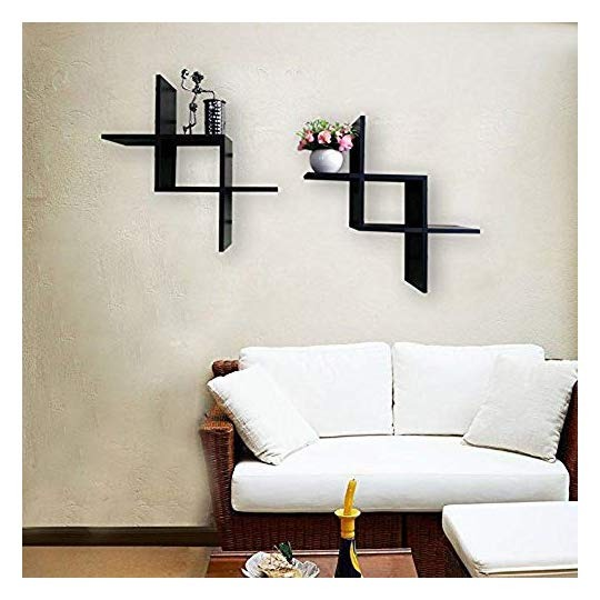 Estantes para pared de madera 2 pzas estilo moderno - Madera para estantes ...
